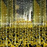 Luzes decorativas da cortina do casamento do festival ao ar livre do diodo emissor de luz para a parede do edifício