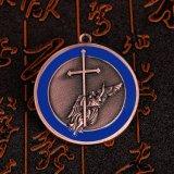 リボンが付いている金張りのKongfuによって刻まれるメダル