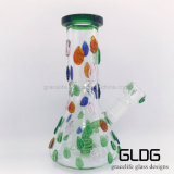 Kleurrijke Bladeren 7mm de Zware Waterpijp van het Glas van de Beker