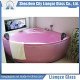 Vidrio de hoja plana elegante modificado para requisitos particulares del espejo del cuarto de baño de 8m m