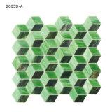 Azulejo de mosaico verde de gama alta del vidrio manchado para el cuarto de baño Backsplash