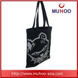 Lona do saco de mão do Tote da forma/saco compra pretos do algodão para senhoras