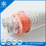 Conducto flexible del aislante rosado de la fibra de vidrio