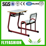 Mobiliário escolar anexado Estudante único mesa e cadeira (SF-89S)