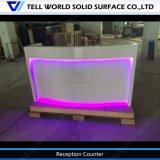 Acrylique pur moderne commerciale d'éclairage à LED RVB de Mobilier de Bureau Bureau Bureau de réception avant