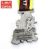 Hot Sale Marathon Sport de haute qualité, la filature de la médaille La médaille La médaille, module de finition personnalisée