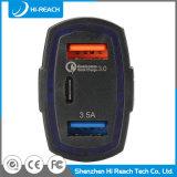 Portable Preto 3 portas USB do telefone do carregador de carro