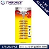 Pile alcaline primaire 1.5volt sec avec ce/ISO pile alcaline Ultra 8PCS Carte blister (LR6-AA taille)