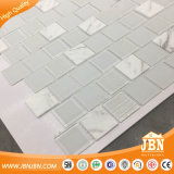 백색 광택 있는 2X2 모자이크 유리 도와 Backsplash 지면 벽 (M430003)