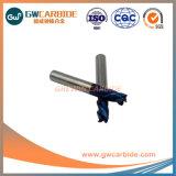 Alta resistenza per portare il laminatoio di estremità del carburo cementato delle scanalature HRC50 4
