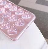 3D Transparante hart-Vorm schittert de Leuke Gevallen van de Telefoon voor iPhone X