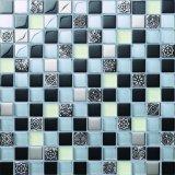 Glace de mosaïque d'étage et de mur de salle de bains de mosaïques