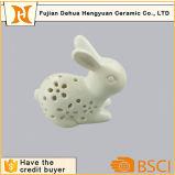 Ладан Burnner кролика пасха керамический & светильник ночи