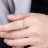 925 은빛 반지를 놓는 Jennie 악대 입방 지르코니아 다이아몬드