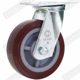 125 mm rouge roue en polyuréthane Heavy Duty Roulette industrielle