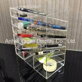 アクリルの6棚の事務用品の机のオルガナイザー