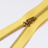 Denti materiali d'ottone dell'oro della chiusura lampo del metallo della Chiudere-Fine 3# da vendere