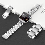 Faixa de relógio de Aço Inoxidável prata grande superfície de polimento de banda de links para o Ionic