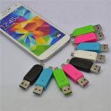 Venda por grosso de leitor de cartão USB 2.0 Universal Celular Leitor de cartão PC OTG Micro USB OTG TF / leitor de cartões de memória flash SD