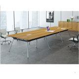 Design simples L Shape Manager Mesa de escritório com base metálica