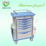 Disposable Lock Slv-C4014를 가진 병원 Furniture Luxurious Emergency Trolley