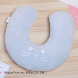 Venta caliente creativo lindo gato de dibujos animados de algodón de PP u oficina en el cuello almohada