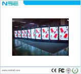 Nse Piscina P5mm Leitor Publicidade Display LED de Chão para Super Mercado Interno