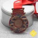 Prix OEM personnalisé flocon de neige Sport maçonnique Médaille de bateau dragon