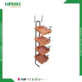 Présentoir en métal du pain de Rack rack carré avec panier