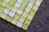 رقاقة حجم [20إكس20مّ] زخرفيّة أصفر بيضاء قرميد زجاج فسيفساء
