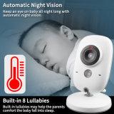 Inalámbrica de 3,2 pulgadas de visión nocturna de la cámara de seguridad del bebé el control de temperatura