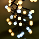 混合された白く、暖かく白い爆竹LEDのクリスマスストリングライト