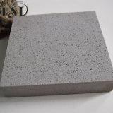 Pedra de superfície contínua cinzenta de quartzo