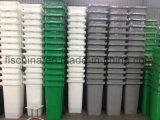 scomparto residuo 120L/contenitore di plastica con due rotelle