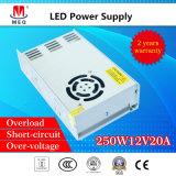 SMPS 250W 15V 16A Schaltungs-Modus-Stromversorgung