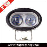 10-60V de 3 LEIDENE van de Lens van de Duim 10W 4D Blauwe Lichten van de Vlek voor de Veiligheid van de Vorkheftruck