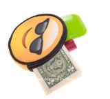 新しいデザイン卸売3Dの印刷のEmojiのカスタムアートワークの硬貨の財布