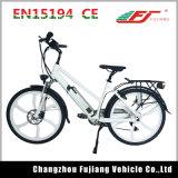 Una signora ecologica Electric Bike di 7 velocità con l'elemento portante