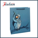La insignia barata del diseño animal impresa vende al por mayor el bolso de papel de encargo del regalo