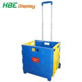 35kgs Foldable食料雑貨のプラスチック買物車
