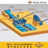 Sacudida del vector para la separación de la minería aurífera