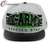 Hip Snapback Pop Hat 3D avec broderie sur cuir Brim