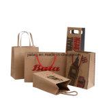 Het Winkelen van het Document van de Gift van het Embleem van de douane Ontwerp Afgedrukte Verpakkende Boodschappentassen