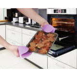 Силикон перчаток кухни теплостойкmNs варя перчатки выпечки BBQ перчаток