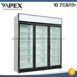 Холодильник напитка двери 3 стекел чистосердечный с верхним компрессором