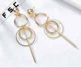 새로운 디자인 금 Jhumke 보석 긴 하락 술 매다는 귀걸이