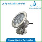 Indicatore luminoso subacqueo esterno della lampada LED di alta qualità 9W con 304ss pieno