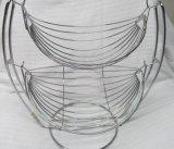 バナナラックが付いている新しいデザイン金属線のデザート用深皿