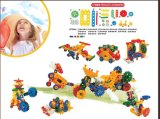 Kind-frohes Karikatur-Baustein-Spielzeug