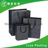 Venda por grosso de Impressão CMYK Personalizado Dom Luxo Preto Sacola de Compras de papel